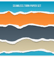 seamless torn paper set vector image vector image