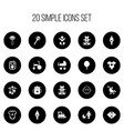 set of 20 editable baby icons includes symbols vector image vector image