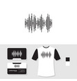 sound wave logo design with business card and t vector image