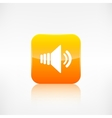 Speaker volume icon Application button vector image vector image