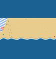 summer beach top view travel horizontal banner vector image vector image