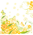 summer flower card vector image