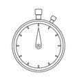the stopwatch the black color icon vector image vector image