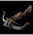vintage crossbow weapon vector image vector image