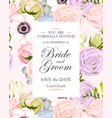 vintage wedding invitation vector image vector image