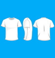 white t-shirt template in front side and back vector image vector image