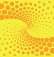 yellow and orange retro style comic background vector image vector image