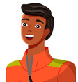 young tanned guy in a jacket with a zipper vector image vector image
