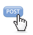 Post Button vector image