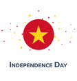 independence day of vietnam patriotic banner vector image