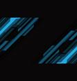 abstract blue grey cyber geometric slash on dark vector image vector image