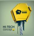 abstract hi-tech technologic template vector image vector image
