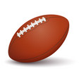 american football ball on white background vector image