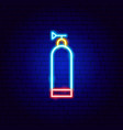 aqualung neon sign vector image