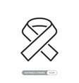 awareness ribbon linear icon support fight vector image