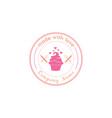 bakery dessert logo template art design vector image