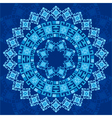 blue ottoman serial patterns four vector image vector image