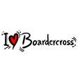 boardecross love vector image vector image