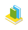 books set isometric 3d icon vector image vector image