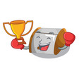 boxing winner container food bread bin isolated on vector image vector image