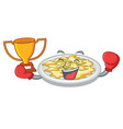 boxing winner scrambled egg isolated with in vector image vector image