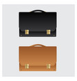 business leather briefcase on white background vector image