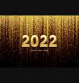 calendar header 2022 realistic metallic gold vector image vector image