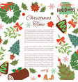 christmas frame cartoon vector image vector image