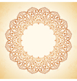 circular pattern of flowers vector image vector image