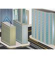 Cityscape cartoon vector image vector image