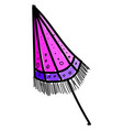 closed umbrella on white background vector image vector image