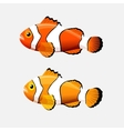 Clown fish icon in flat style on a white vector image