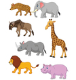 Collection animal africa vector image vector image