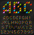 Colorful Triangle Font vector image vector image
