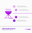 cooking bbq camping food grill infographics vector image