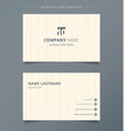creative business card and name card light brown vector image