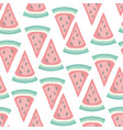 cute seamless pattern with watermelon slices vector image vector image