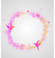 Decorative hand drawn wreath of flowers vector image vector image