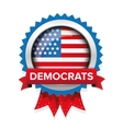 Democrats election badge vector image vector image