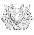 doodle hand-drawn forest anima vector image