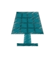 drawing solar panel energy ecological clean vector image vector image