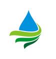 drop water and swoosh logo template design eps 10 vector image vector image