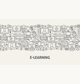 e learning banner concept vector image vector image