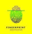 editable line fingerprint scan icon vector image vector image