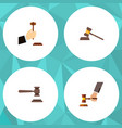 flat icon court set of crime court law and other vector image vector image