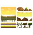 game cartoon elements set with pieces fantasy vector image vector image