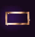 gold paint glittering textured frame on dark vector image vector image