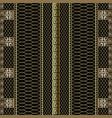 gold striped 3d greek key meander borders vector image vector image