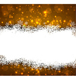 Golden christmas background with snow vector image vector image