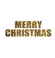 golden glitter isolated holiday word merry vector image vector image